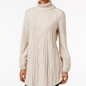 Style & Co. Cable-knit Tunic Sweater